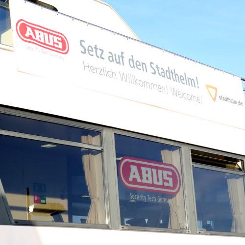 PR Konzept: Stadthelm Kampagne für ABUS – ALPHA POOL