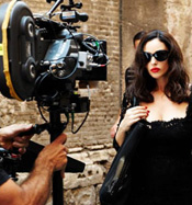 Monica Bellucci goes for Gold