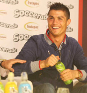 Cristiano Ronaldo wirbt für Soccerade