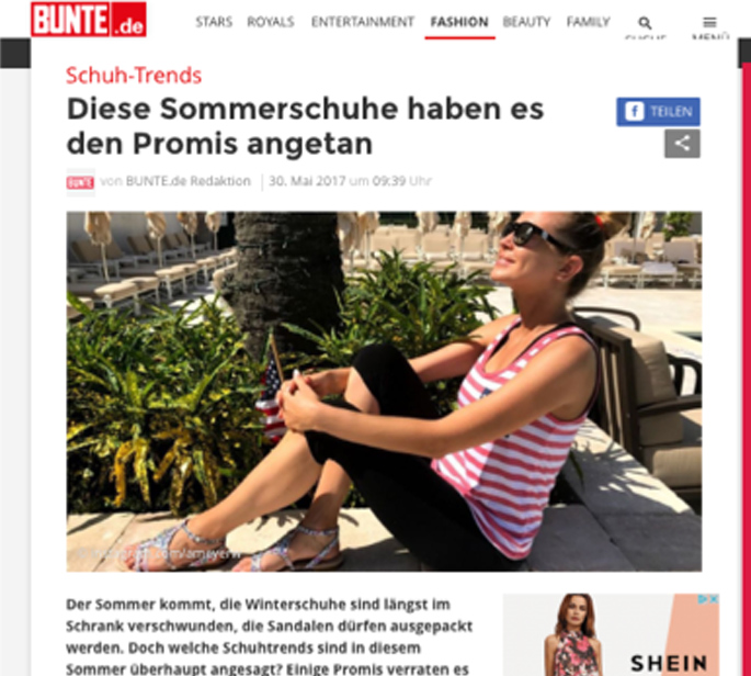 ALPHA POOL Online PR Example Deichmann
