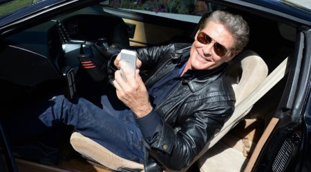 David Hasselhoff doesn't need a talking car
